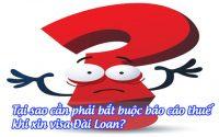 tai sao can phai bat buoc bao cao thue khi xin visa Dai Loan