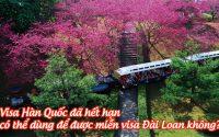 visa Han Quoc da het han co the dung de duoc mien visa Dai Loan khong