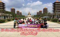 co visa Han Quoc thi co duoc mien visa Dai Loan khong