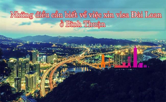 xin visa Dai Loan o Binh Thuan