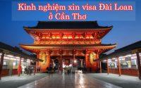 xin visa Dai Loan o Can Tho