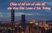 xin visa Dai Loan o Soc Trang
