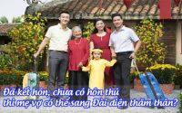 da ket hon, chua co hon thu, thi me vo co the sang dai dien tham than