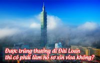 duoc trung thuong di Dai Loan thi co phai lam ho so xin visa khong