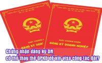 chung nhan dang ky DN co the thay the GPKD de xin visa cong tac dai