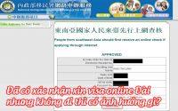 da co xac nhan xin visa online dai nhung khong di thi co anh huong gi