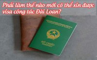 phai lam the nao moi co the xin duoc visa cong tac dai loan