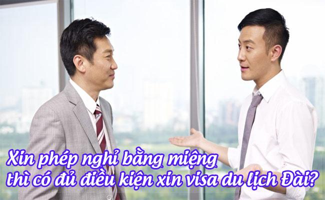 xin phep nghi bang mieng thi co du dieu kien xin visa du lich dai