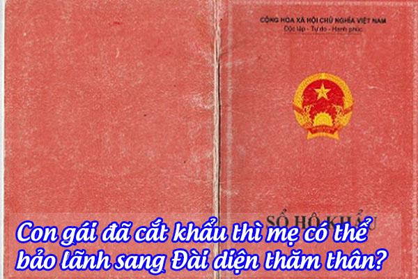 con gai da cat khau thi me co the bao lanh sang dai dien tham than