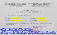 giay xac nhan dong BHXH co thay so BHXH duoc khong khi xin visa Dai
