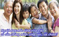 nguoi duoc bao lanh visa dai co can chung minh cong viec, tai chinh