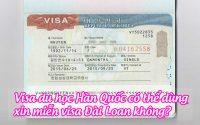 visa du hoc han quoc co the dung xin mien visa dai loan khong